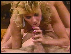 Vintage triple blowjob with Ginger