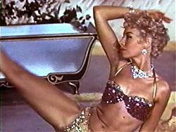 PINK PANTHER STRIP - vintage glamour blonde striptease heels