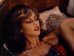 Retro Classic - Lady in Satin Lingerie Pleasuring Herself