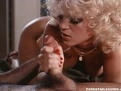 Amber Lynn fucked by 2 guys with cumshots